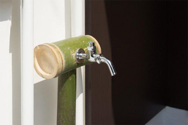 竹を使った水道