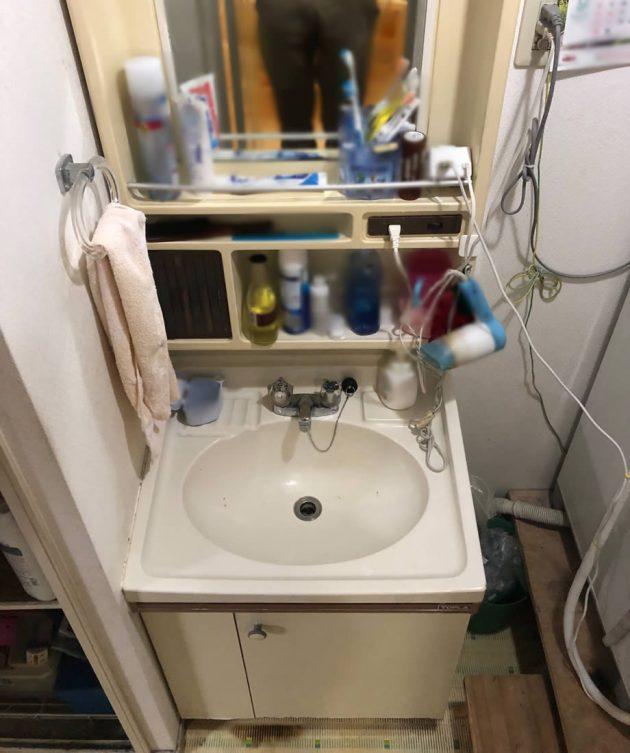 ビフォーの洗面台