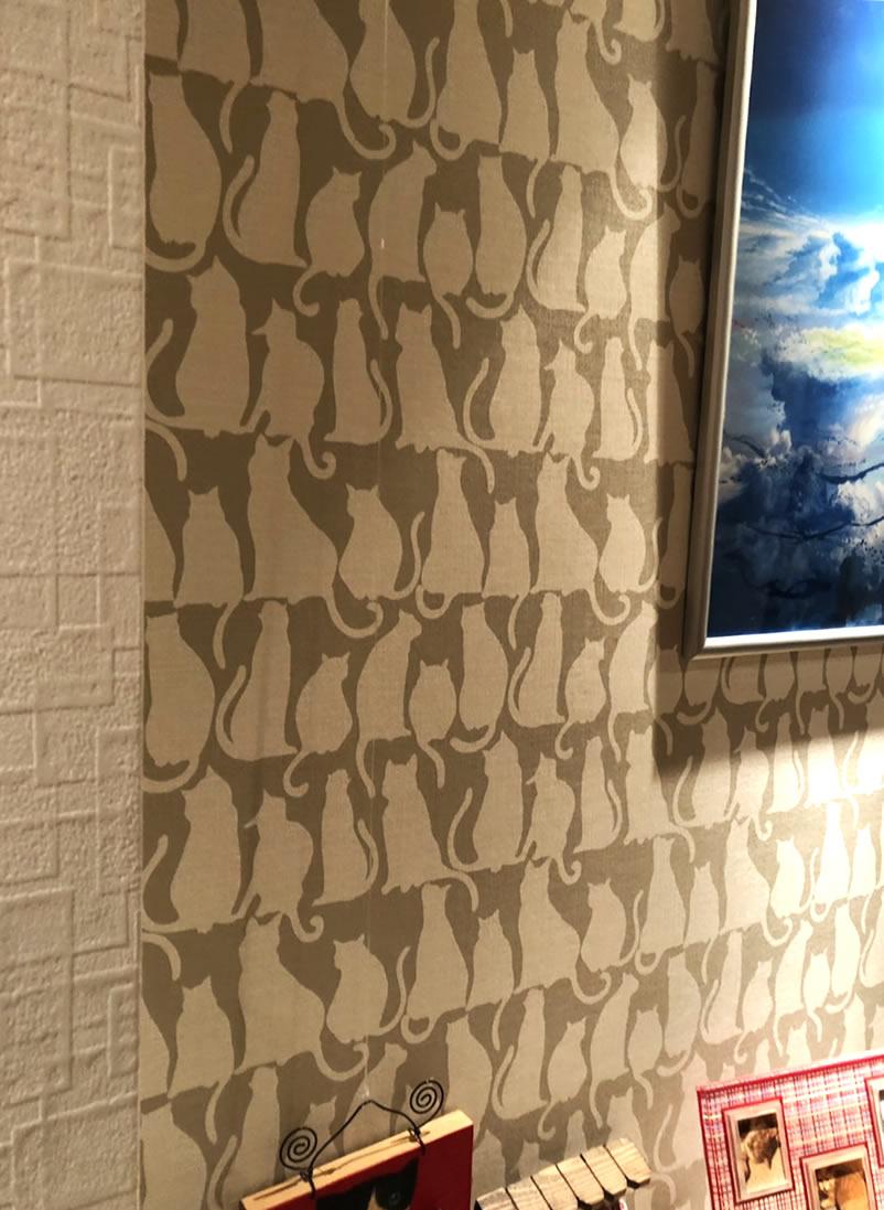 猫柄の壁紙