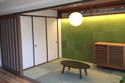 和室、欄間、琉球畳